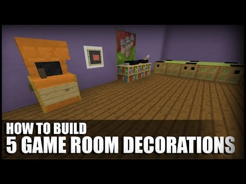 5 Game Room Decorations In Minecraft - YouTube