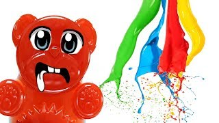 Werden Aqualinos in Acrylfarbe wachsen - Experiment mit Lucky Bär