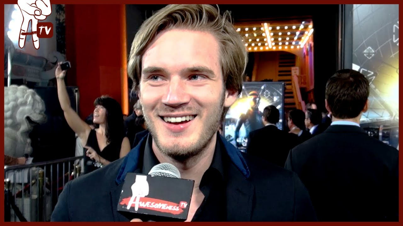 V&b Pewdiepie And The Cast Of Ender's Game Talk Fangirling