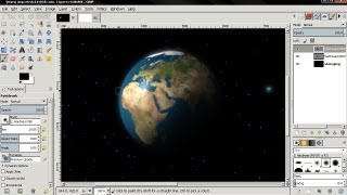 Planet Earth - GIMP Tutorial