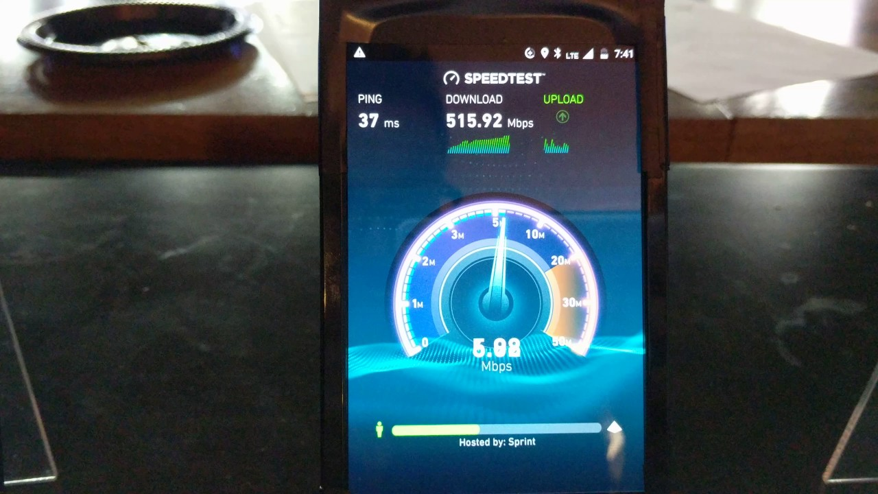 Sprint Gigabit Class LTE speedtest