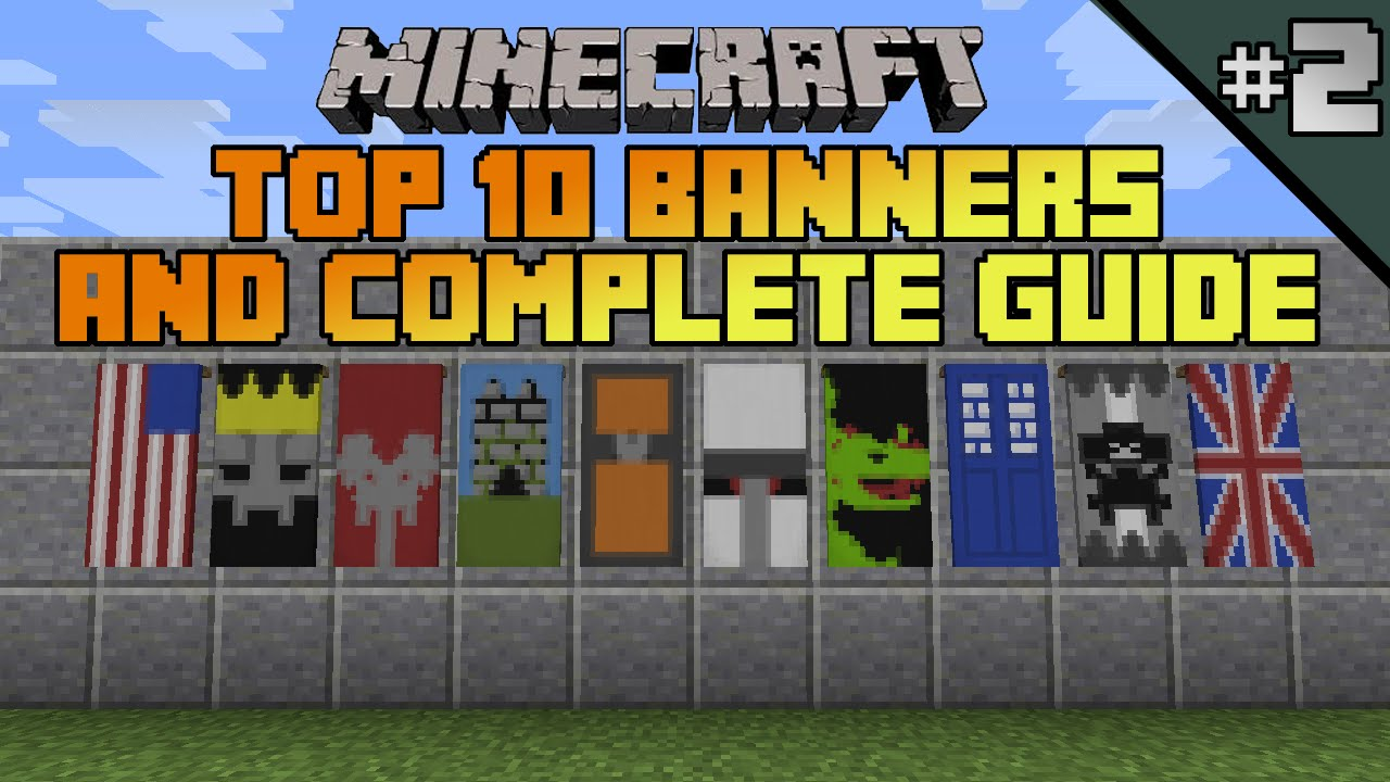 minecraft top 10 banner designs! ep 2 with tutorial!  youtube