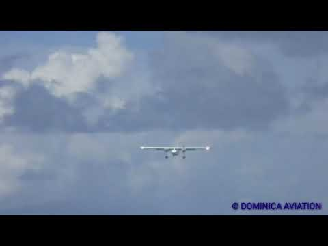 Insane! low landing!! TRANS ANGUILLA AIRWAYS BN2 islander VP-AAF in SXM