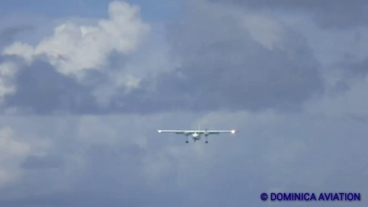 Insane! low landing!! TRANS ANGUILLA AIRWAYS BN2 islander VP-AAF in SXM