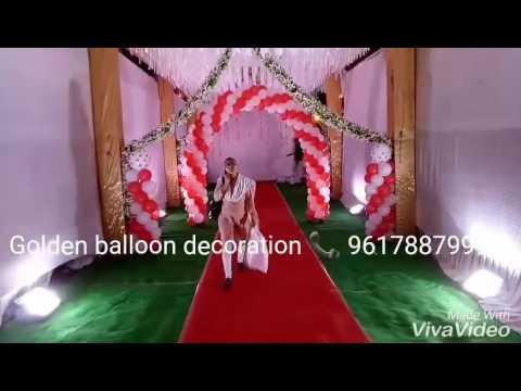 Golden balloon decoration  09617887999
