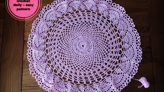 Video How to crochet doily -  easy pattern download MP3, 3GP, MP4, WEBM, AVI, FLV Juli 2018