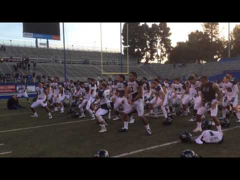 Hawaii Football Post Game Haka After Win Over San Jose State