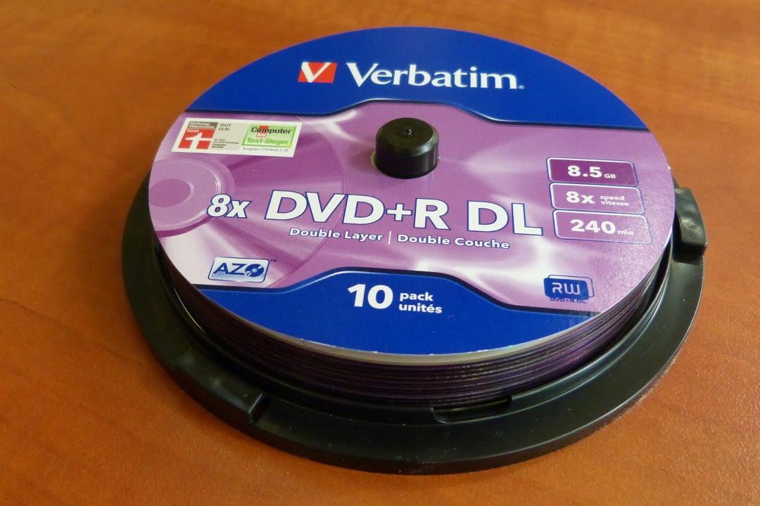Verbatim DVD+R DL Unboxing 8.5GB - YouTube on
