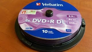 Verbatim  DVD+R DL Unboxing  8.5GB(10 pack unites., 2014-07-18T04:25:38.000Z)