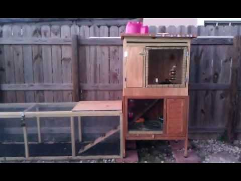 Awesome outdoor rabbit hutch with a 6 39 run youtube for Amazing rabbit cages