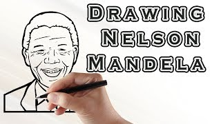 Drawing Nelson Mandela | Draw Easy For Kids | Drawing Famous People Nelson Mandela