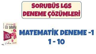 Sorubüs Lgs Denemeleri -1 / Matematik 1-10