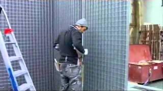طريقة بناء الالواح الهيكلية 3d panel walls