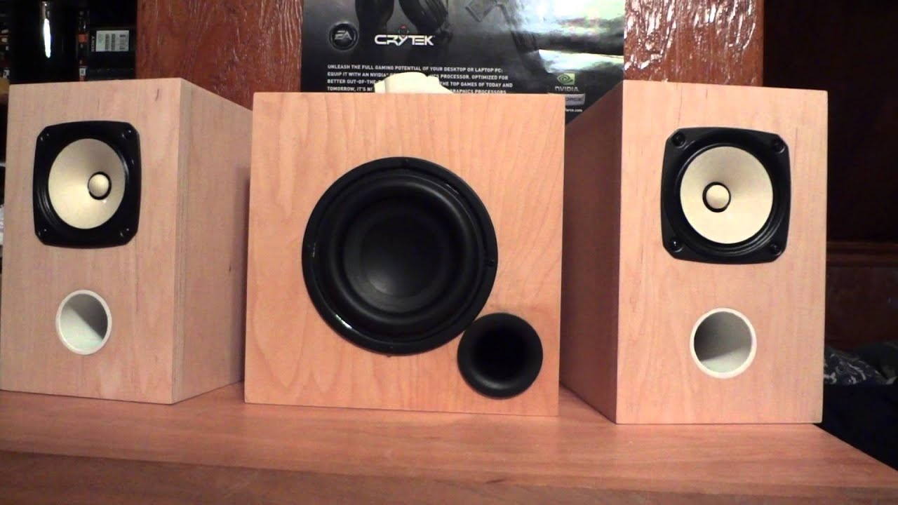 Demo Clip Of My Custom Built Speakers  Fostex Fe126en  U0026 Tb W6