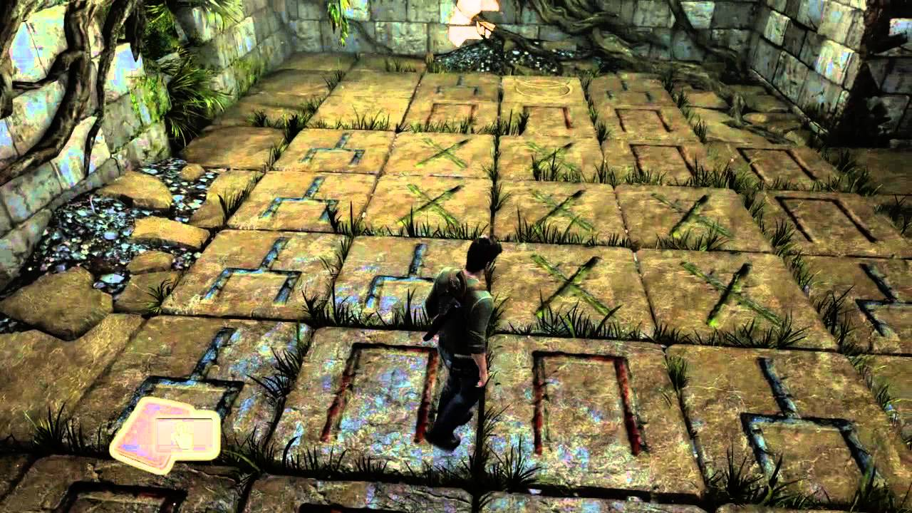 Uncharted 3 Remasterd the chateau floor puzzle - YouTube