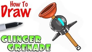 How to Draw Clinger Grenade | Fortnite
