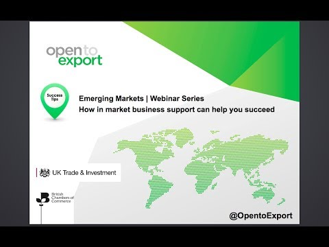 Emerging Markets | How in-market business support can help you succeed