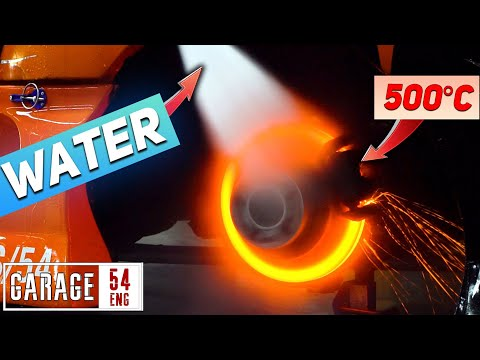 Drenching a red hot brake rotor - what'll happen?