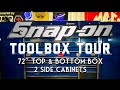 "Snap On Toolbox Tour 72"" Master Series With Top Box And Two Side Lockers!"