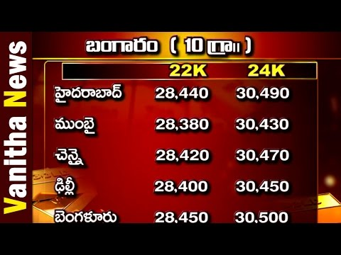 Today Gold and Silver Rate in India || Vanitha News|| Vanith