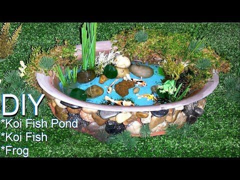 DIY Miniature Koi Fish Pond
