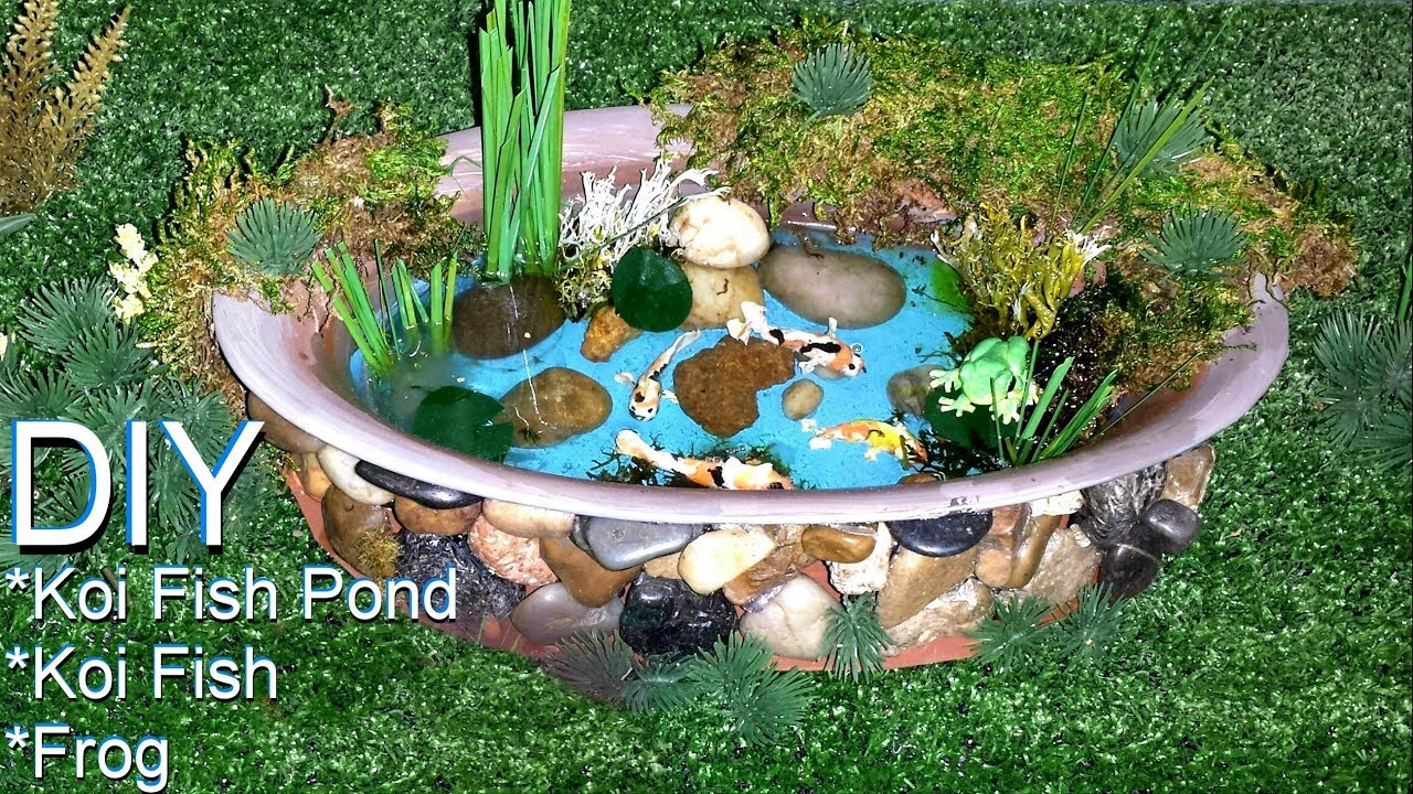 Diy Miniature Koi Fish Pond