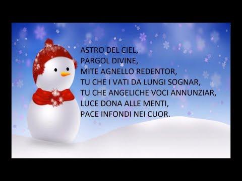 Astro del ciel - Canzoni natalizie con testo