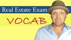 Vocabulary Terms from the Real Estate Exam | PrepAgent