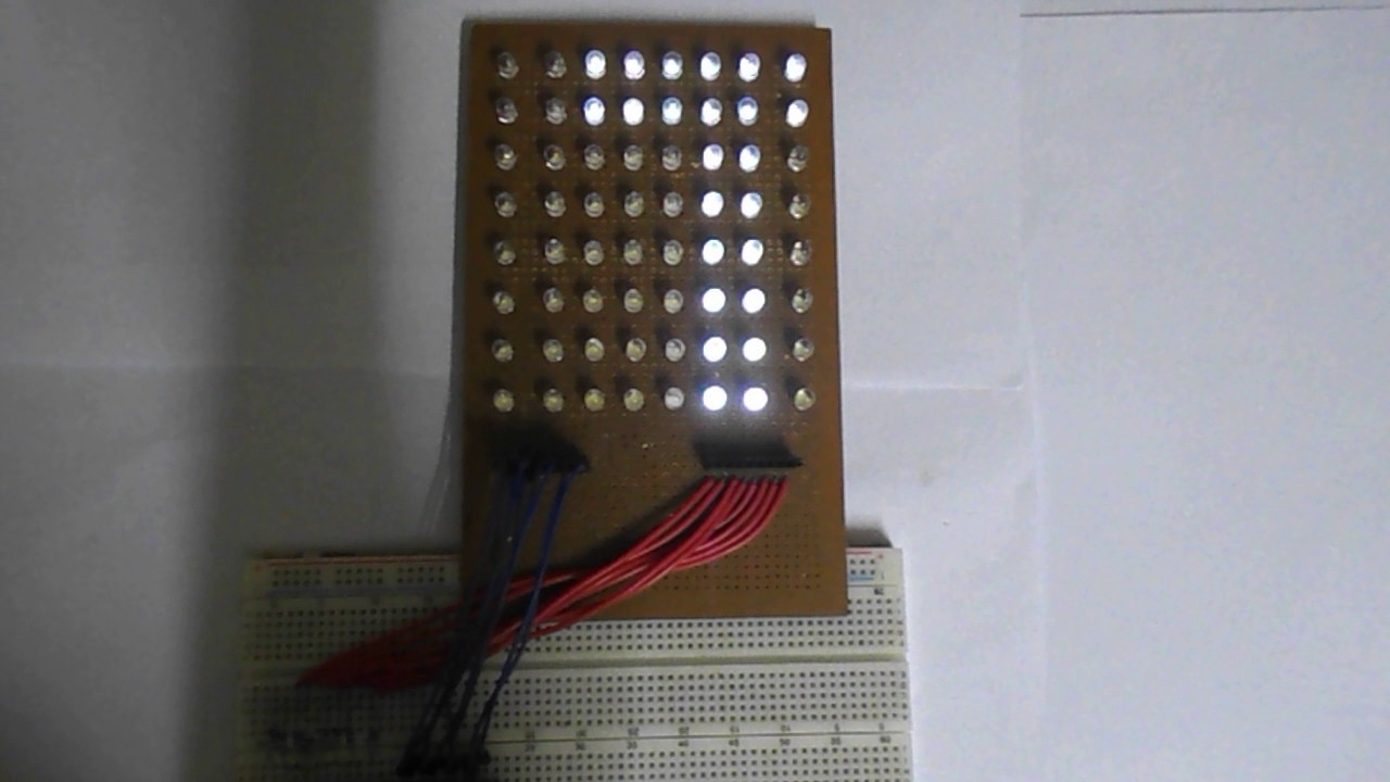 Scrolling Text On 8x8 Led Matrix Using Avr Microcontroller Youtube Basics Updated An Accelerometer With