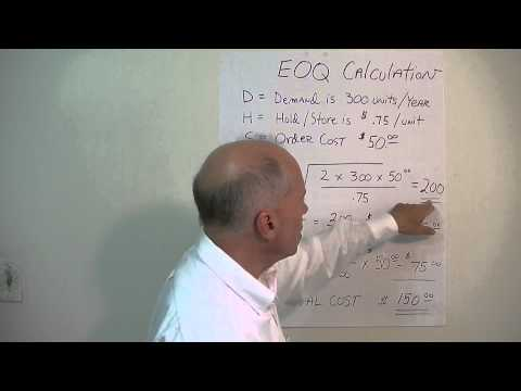 Working Capital Management (8 of 11) - Economic Order Quantity