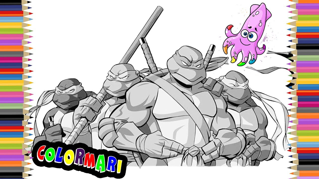 Ninja Turtles TMNT Coloring Book Pages for Kids Episode 16 ...