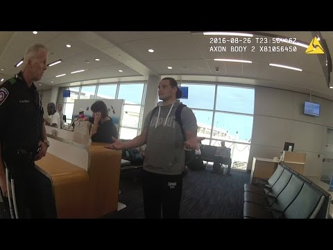 Bo Dallas public intoxication arrest body camera video #2 (8/26/16 DFW)
