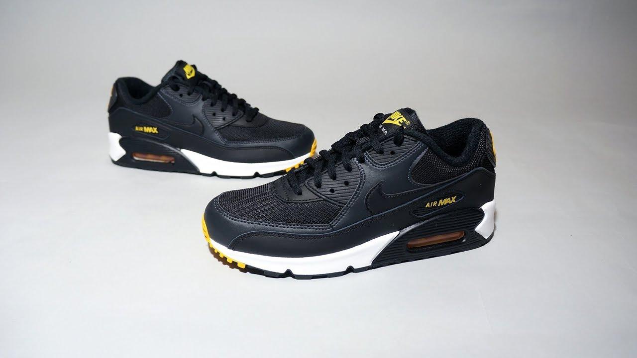 Nike Air Max 90 Black Yellow AJ1285 022