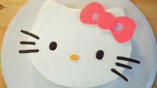 키티 케이크만들기(전자렌지케이크)キティケーキHow to make a simple Kitty cake   [스윗더미 . Sweet The MI]