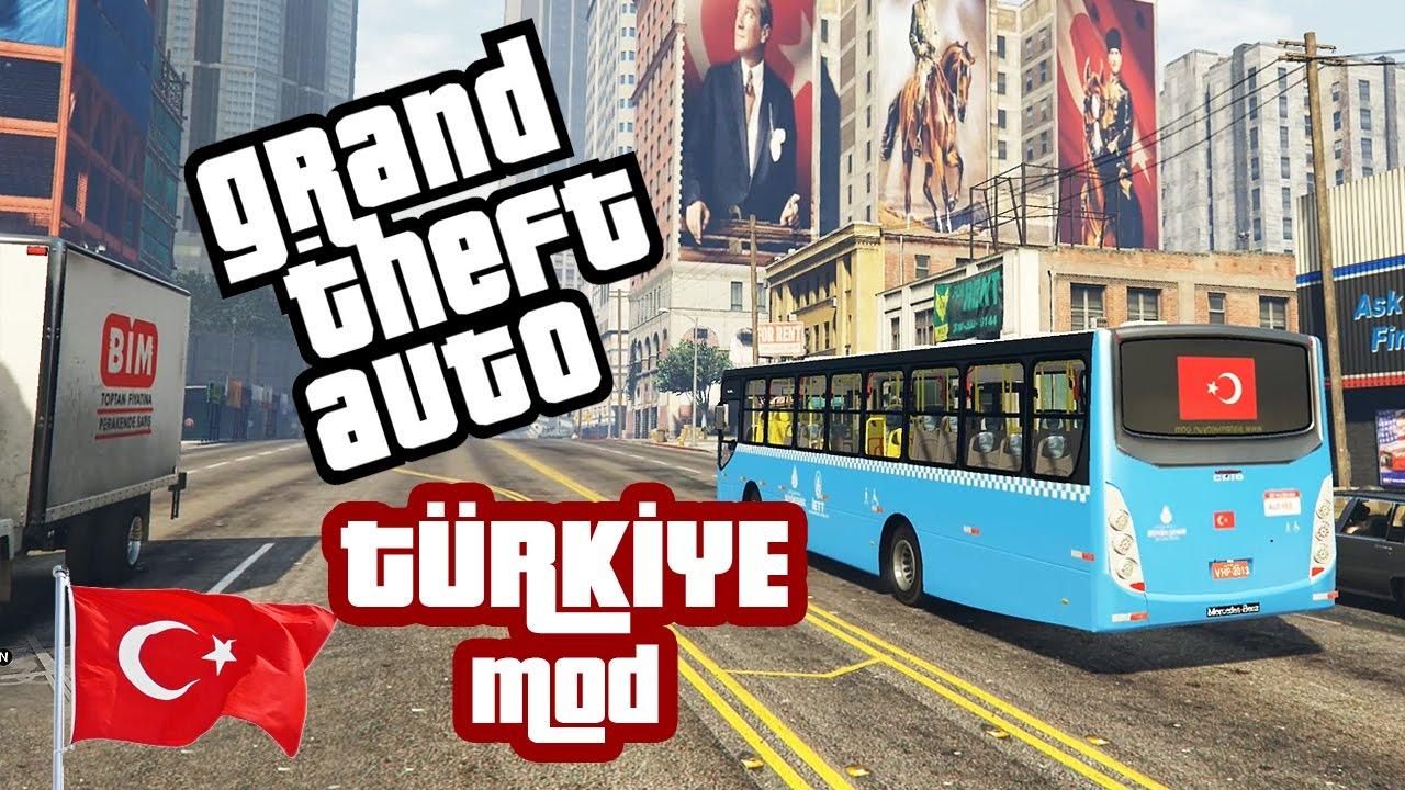 GTA TÜRKİYE MOD! GTA 5'İ TÜRKİYE'DE OYNAYIN!