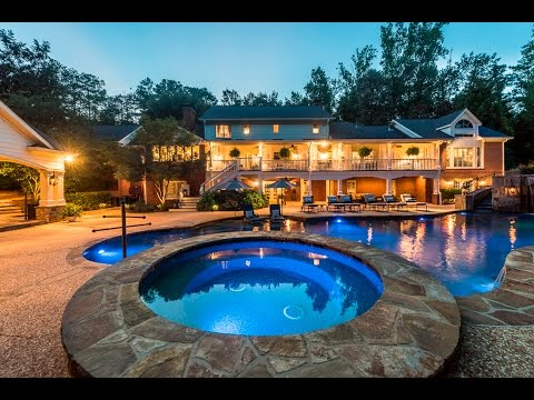 Johns Creek! Gated waterfront estate - 345 Bardolier Ct