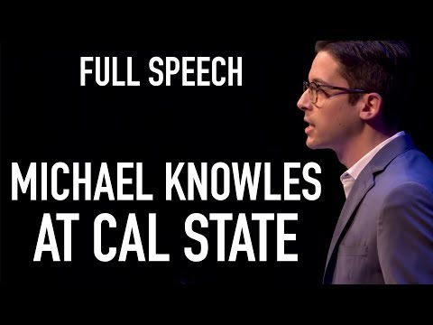 "FULL SPEECH: Michael Knowles on ""Immigration and The Wall"" at Cal State Los Angeles"