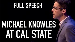 """FULL SPEECH: Michael Knowles on """"Immigration and The Wall"""" at Cal State Los Angeles"""