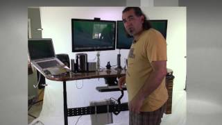 Geekdesk Max -stand Up Desk W/custom Top - Used For Video Edtiting