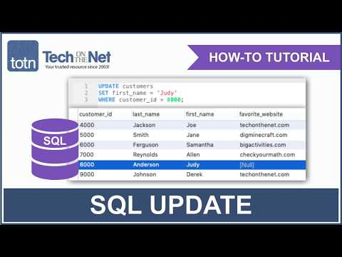 SQL: UPDATE Statement