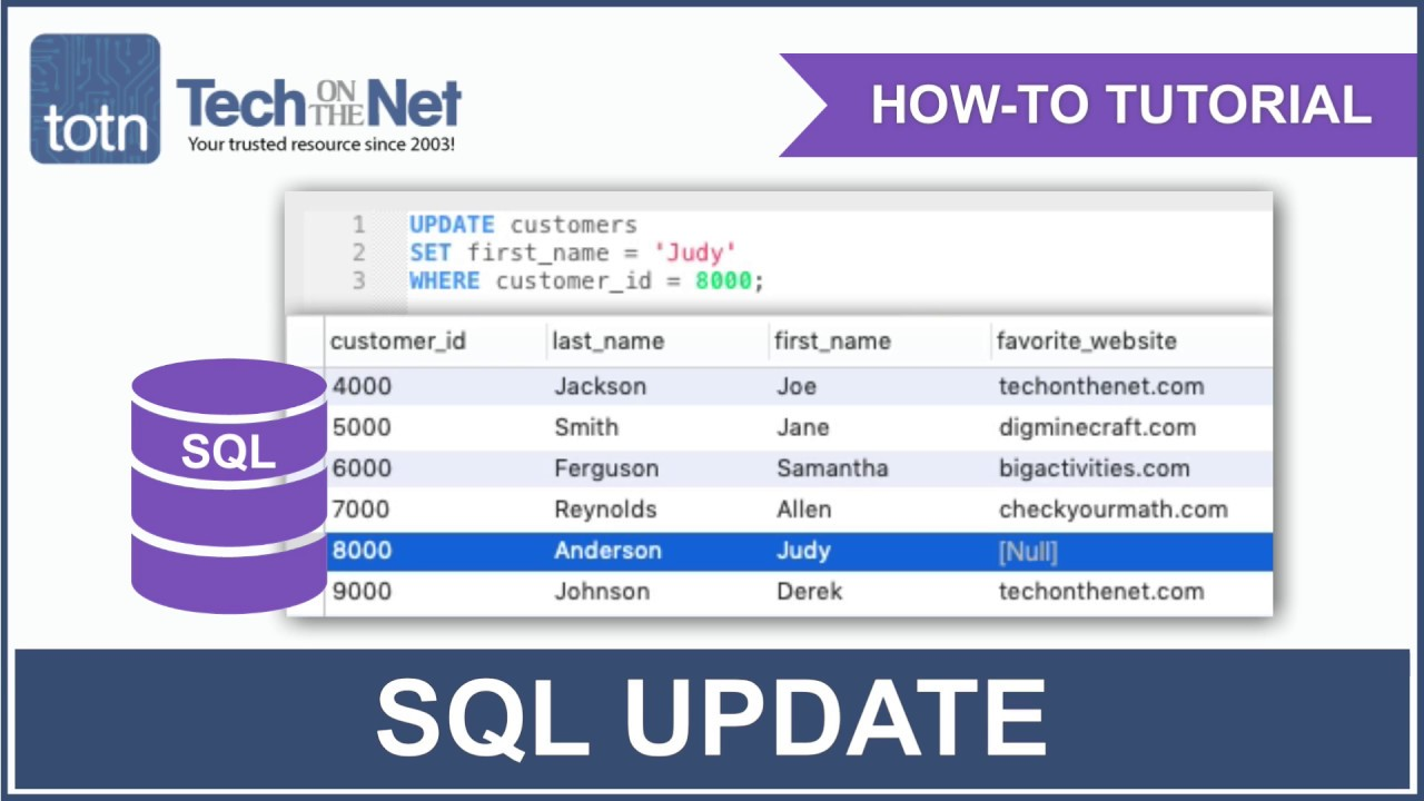 SQL: UPDATE Statement
