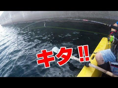 堤防の側面でボートで釣ってみたら…