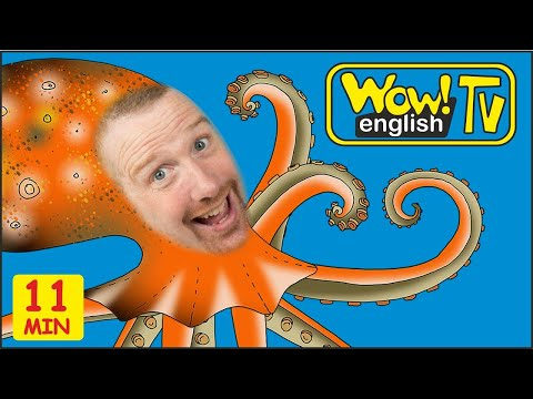 Sea And Farm Animals For Kids | English Stories From Steve And Maggie | Wow English TV