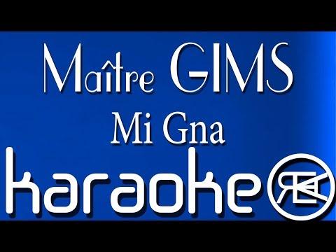 Maître GIMS - Mi Gna | Karaoké Lyrics | ft  Super Sako, Hayko