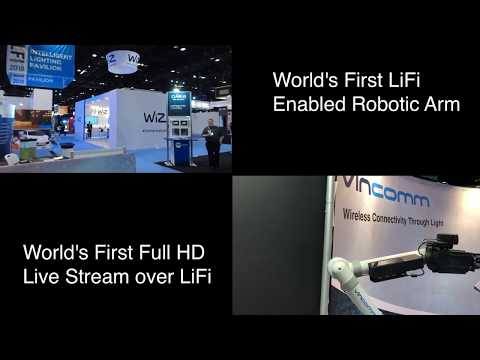 World's First Full HD Live Stream over LiFi