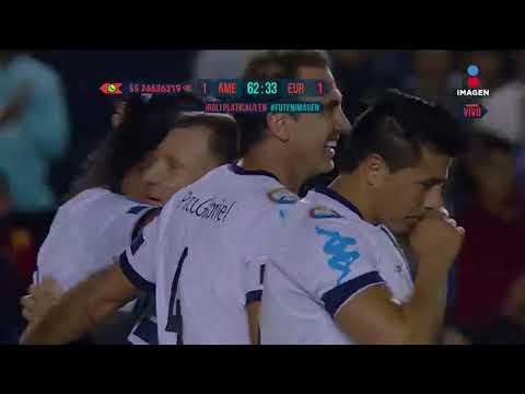 ¡GOLAAAAAZO de Ronaldinho! | Estrellas América vs Europa