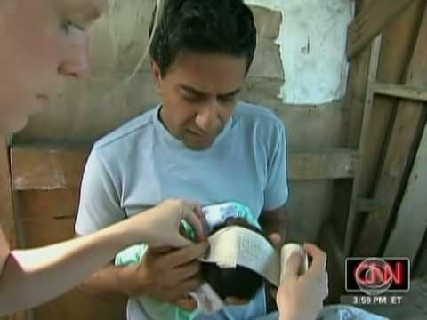 CBS Doctor Treats Haitian Baby