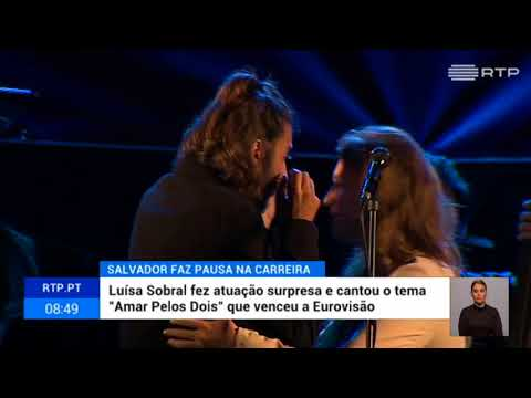 Salvador Sobral crying at his last concert