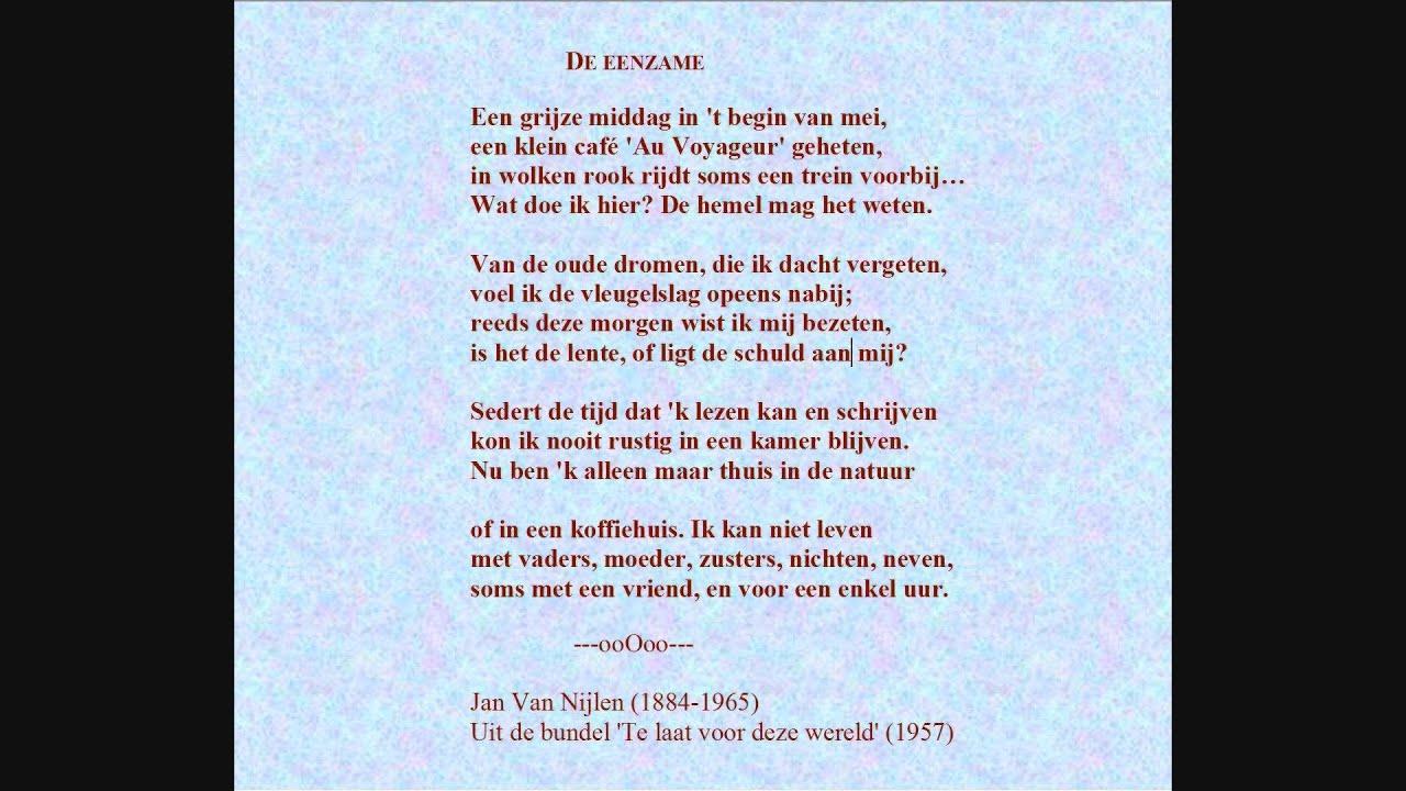 Wonderbaarlijk Jan Van Nijlen - Gedicht: De eenzame' door Julien Schoenaerts FI-48