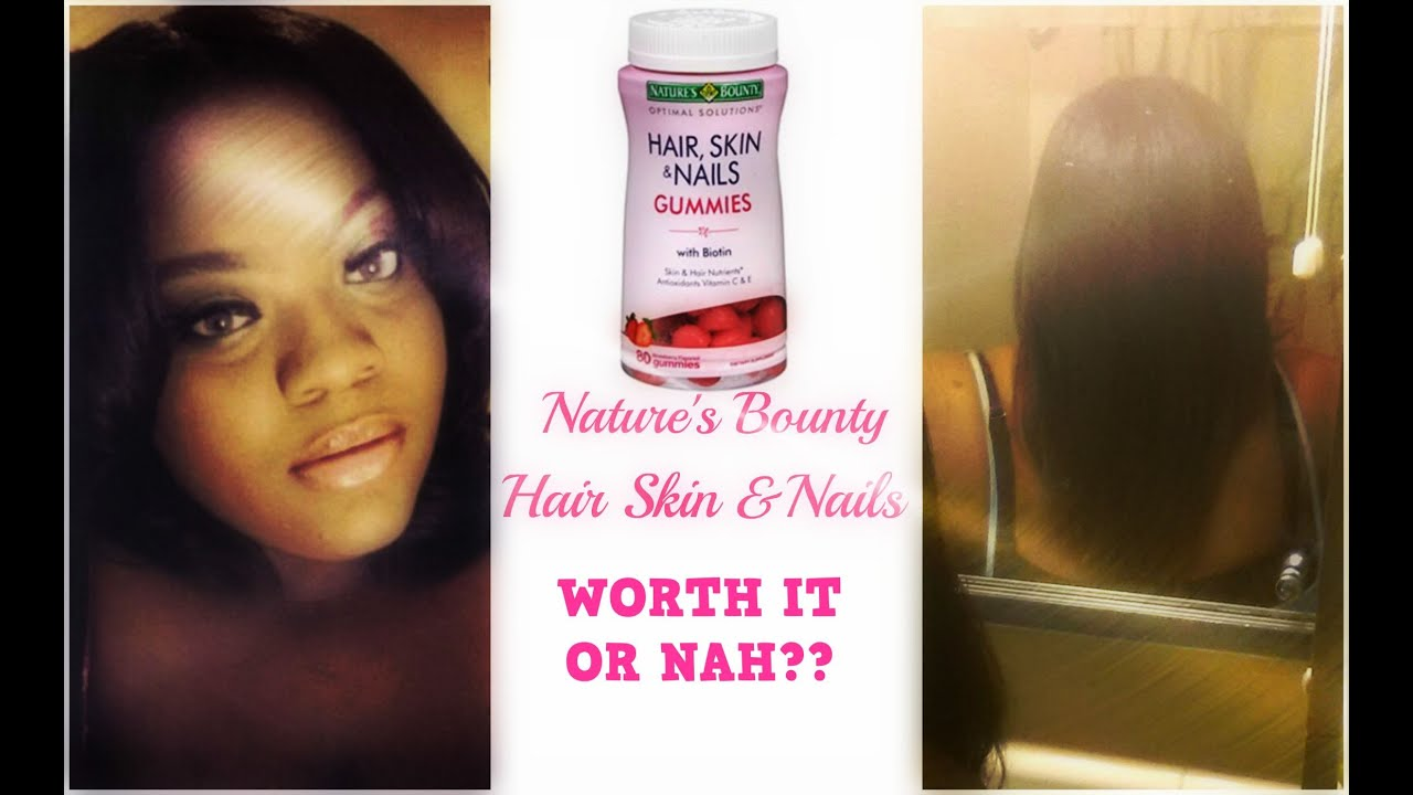 WORTH IT OR NAH?? | Nature\'s Bounty Hair Skin & Nail Gummies - YouTube